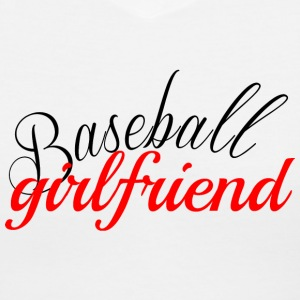 Baseball Girlfriend T-Shirt - Women's V-Neck T-Shirt