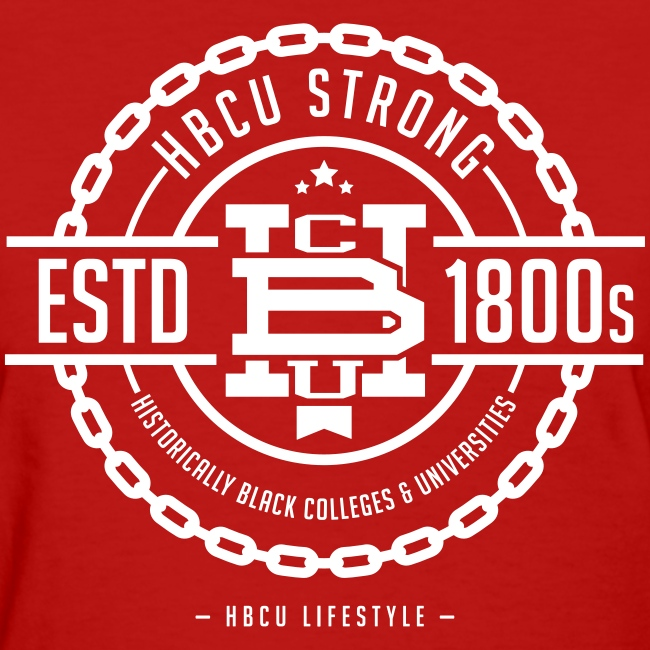 HBCU Strong - Women's Red and Ivory T-shirt