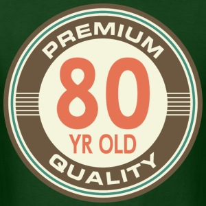 80th Birthday Vintage 80 year old T-Shirts - Men's T-Shirt