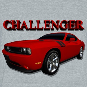 Challenger Red - Unisex Tri-Blend T-Shirt by American Apparel