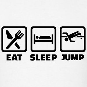 Eat Sleep Jump T-Shirts - Men's T-Shirt