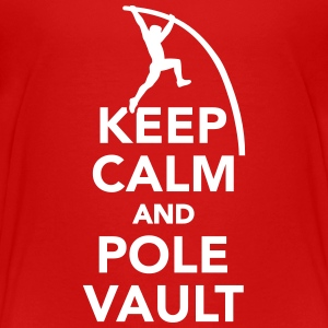 Keep calm and Pole vault Kids' Shirts - Kids' Premium T-Shirt