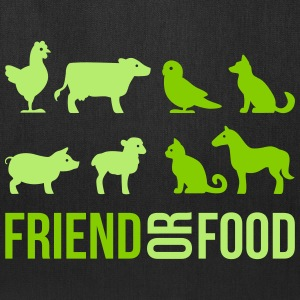 Friend or Food Bags & backpacks - Tote Bag