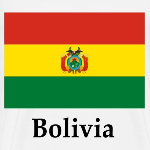 Bolivia Flag And Name T-Shirts - Men's Premium T-Shirt
