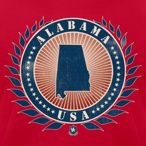 State of Alabama T-Shirts - Men's T-Shirt by American Apparel