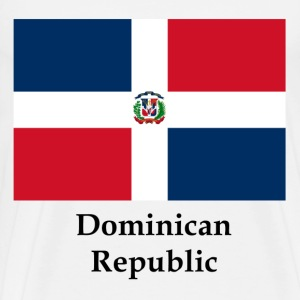 Dominican Republic Flag And Name - Men's Premium T-Shirt