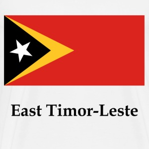 East Timor-Leste Flag And Name - Men's Premium T-Shirt