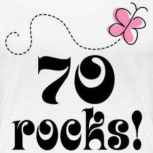 70th Birthday 70 Rocks Women's T-Shirts - Women's Premium T-Shirt