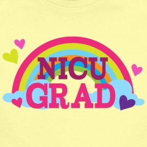 NICU Graduate rainbow Baby & Toddler Shirts - Short Sleeve Baby Bodysuit