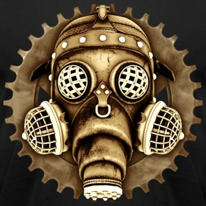 Steampunk-Cyberpunk Gas Mask #1D T-Shirts - Men's T-Shirt by American Apparel