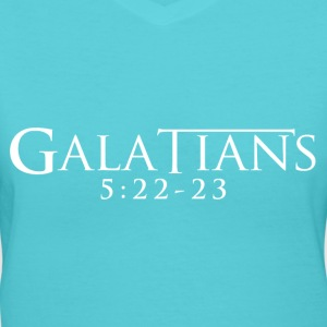 Galatians 5:22-23 - Women's V-Neck T-Shirt