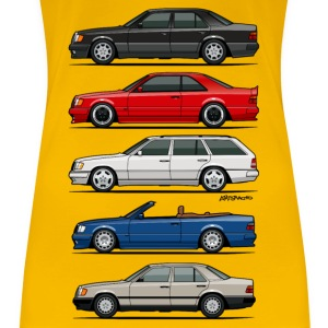 Stack of Mercedes W124 E-Class Women's T-Shirts - Women's Premium T-Shirt