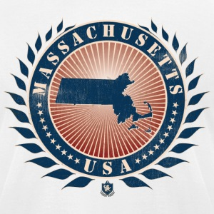State of Massachusetts T-Shirts - Men's T-Shirt by American Apparel
