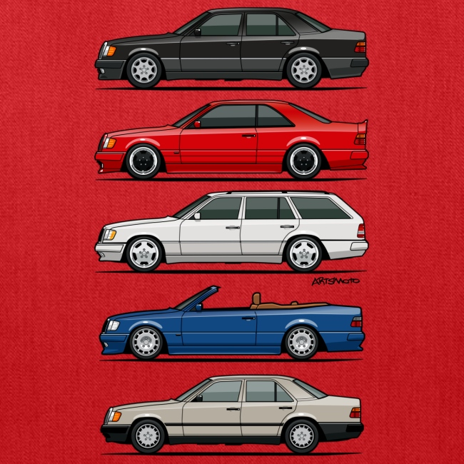 Stack of Mercedes Benz W124 E-Class | Tote Bag