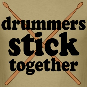 Drummers Stick Together T-Shirts - Men's T-Shirt