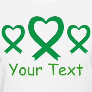 Green Awareness Ribbon logo Women's T-Shirts - Women's T-Shirt