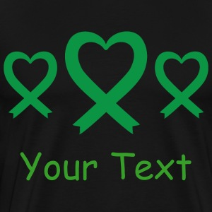 Green Awareness Ribbon logo T-Shirts - Men's Premium T-Shirt
