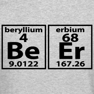 THE BEER ELEMENT PERIODIC TABLE Long Sleeve Shirts - Crewneck Sweatshirt