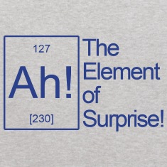"THE ""AH"" ELEMENT OF SURPRISE Sweatshirts"