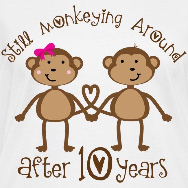 10 Year Wedding Anniversary.10th Wedding Anniversary Tee Shirt Women S V Neck T Shirt