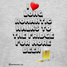 I Love Romantic Walks To The Fridge Women's Long S