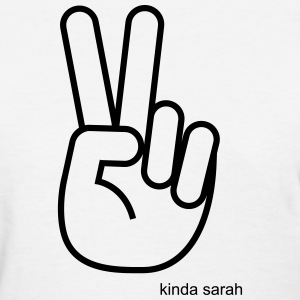 Kinda Sarah Peace Sign Women's T-Shirts - Women's T-Shirt