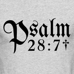 Psalm 28:7 - Men's Long Sleeve T-Shirt by Next Level