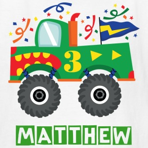 3rd Birthday Monster Truck Kids Tee Shirt - Kids' T-Shirt