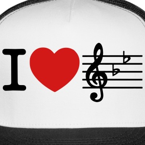 I Love Music Caps - Trucker Cap