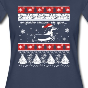 DACHSHUND THROUGH THE SNOW - Women's Premium T-Shirt