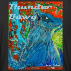 The Dog of Thunder, Men's Baseball Shirt with TEXT