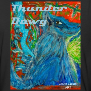 The Dog of Thunder, Men's Baseball Shirt with TEXT - Baseball T-Shirt