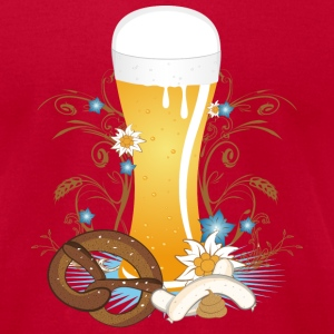 Wheat beer with snack T-Shirts - Men's T-Shirt by American Apparel