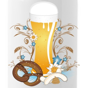 Wheat beer with snack Mugs & Drinkware - Water Bottle
