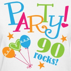 90th Birthday Party Women's T-Shirts