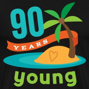 90th Birthday Tropical Island T-Shirts - Men's Premium T-Shirt