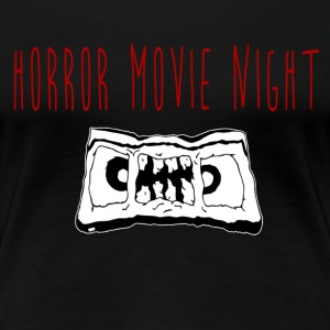 Horror Movie Night VHS of the Dead ladies logo tee - Women's Premium T-Shirt