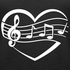 Music Heart Tanks - Women's Premium Tank Top