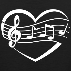 Music Heart Tank Tops - Men's Premium Tank