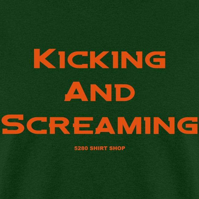 Kicking and Screaming - Mens T-shirt