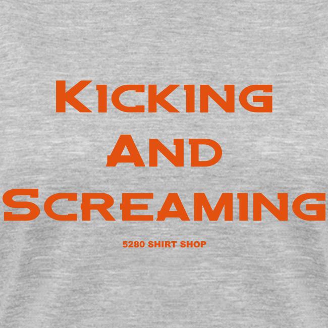 Kicking and Screaming - Ladies V-Neck