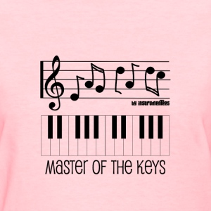 Piano Keys and Musical Notes - Master of the Keys Women's T-Shirts - Women's T-Shirt