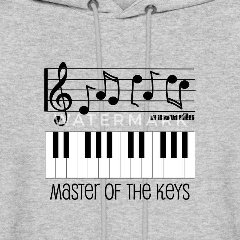 Master of the Keys - Piano Keys and Musical notes Hoodies - Men's Hoodie