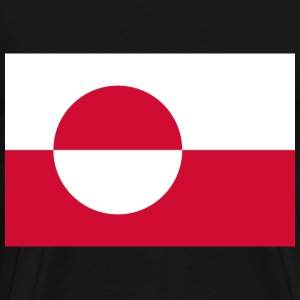 Flag of Greenland  T-Shirts - Men's Premium T-Shirt