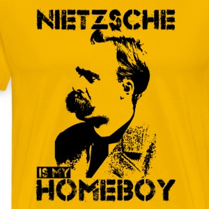 Nietzsche Is My Homeboy T-Shirts - Men's Premium T-Shirt