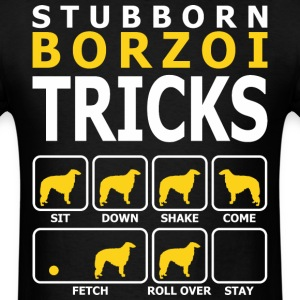 Stubborn Borzoi Tricks - Men's T-Shirt