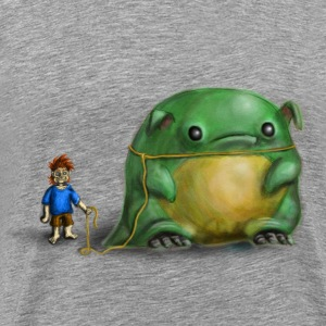 A boy and his pet T-Shirts - Men's Premium T-Shirt