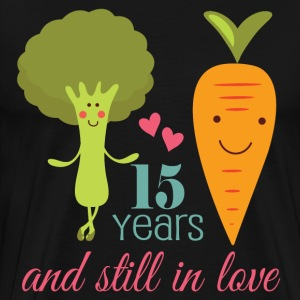 Funny 15 Year Wedding Anniversary T-Shirts - Men's Premium T-Shirt