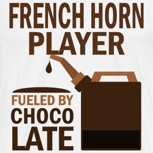 French Horn fueled by chocolate T-Shirts - Men's Premium T-Shirt