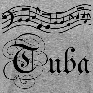 Tuba Music Staff T-Shirts - Men's Premium T-Shirt